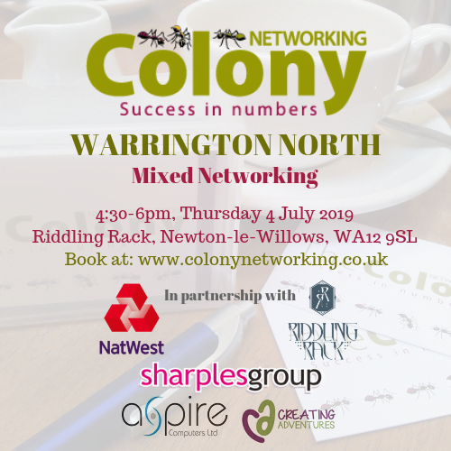 Colony Networking (Warrington North) July 2019