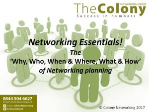 Colony Networking Essentials