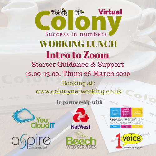 Colony Virtual Working Lunch – Zoom