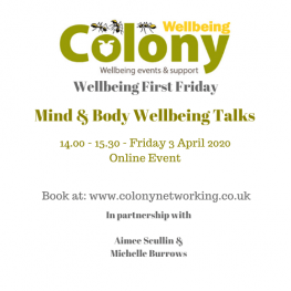 Colony Wellbeing April 2020 event