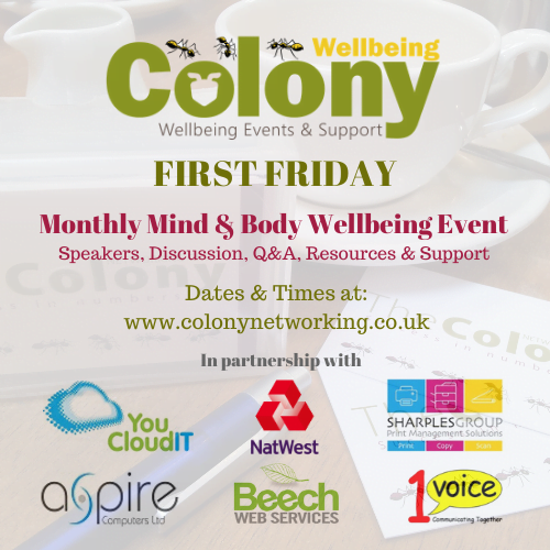 ONLINE: Colony Wellbeing First Friday – Anxiety & Stress