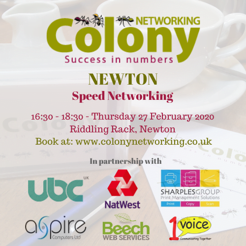 Colony Speed Networking (Newton) February 2020