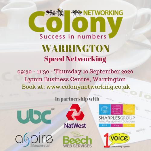 Colony Speed Networking (Warrington) September 2020