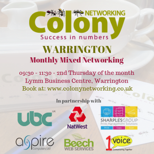 Colony Networking (Warrington) October 2020