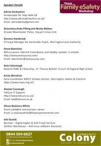 eSafety Speaker List