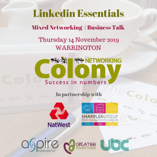 Colony Networking (Warrington) November 2019