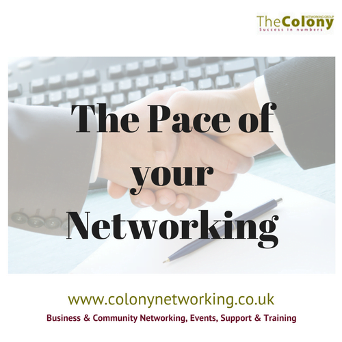 The Pace of your Networking