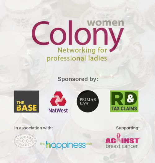 Col Women Tea with sponsor logos