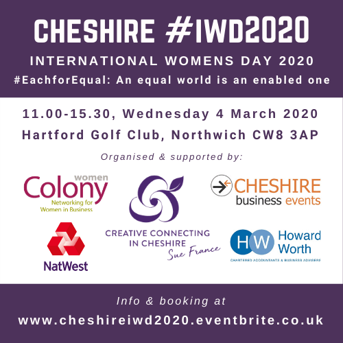 Cheshire International Womens Day #IWD2020 – March 2020