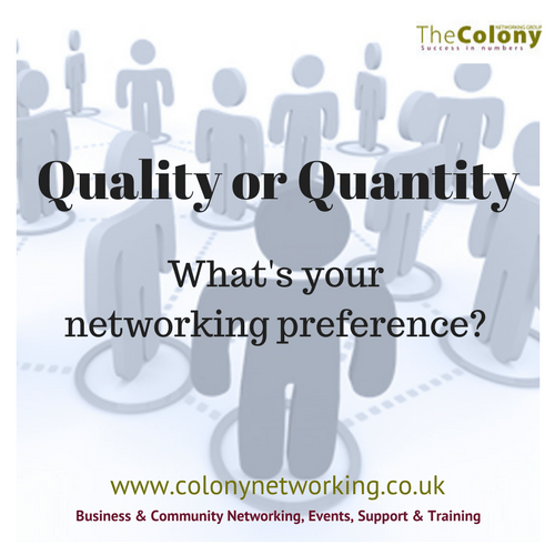 Quality or Quantity: the eternal networking debate