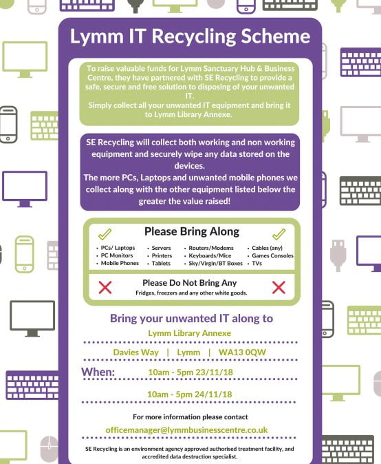 Lymm IT Recycling Scheme 23 and 24 November 2018