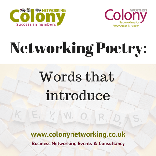 Networking Poetry: Words that introduce