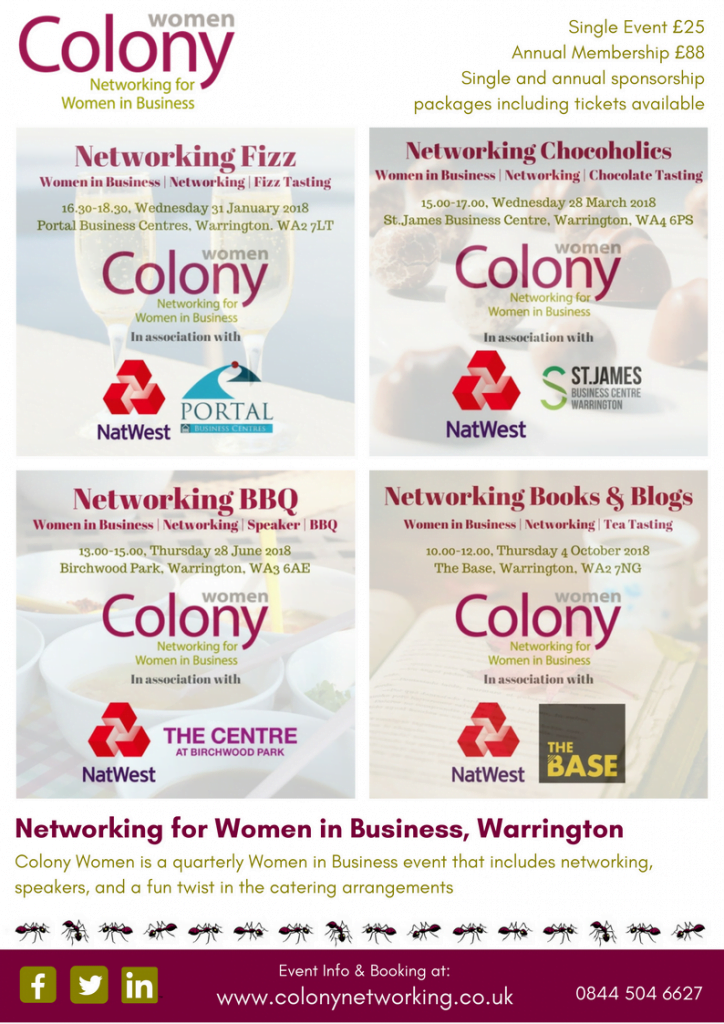 Colony Women 2018 Events