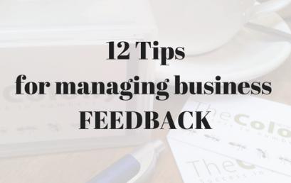 12 Tips on Feedback