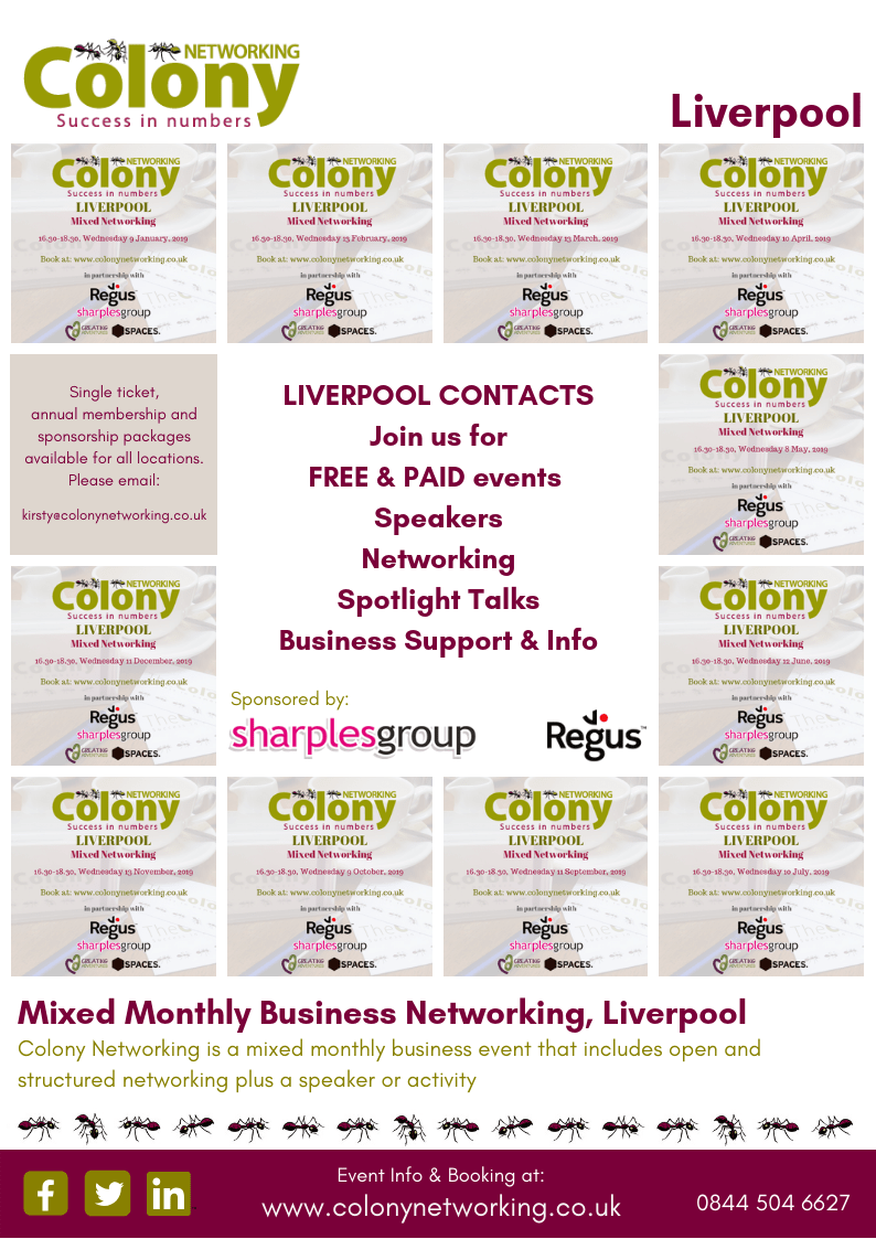 Liverpool Events - Colony Networking