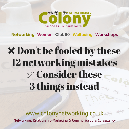 ❌ 12 networking mistakes & 3 actions
